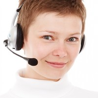 smiling girl with headset